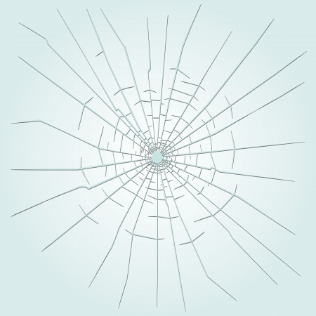 broken glass: Bullet hole in glass