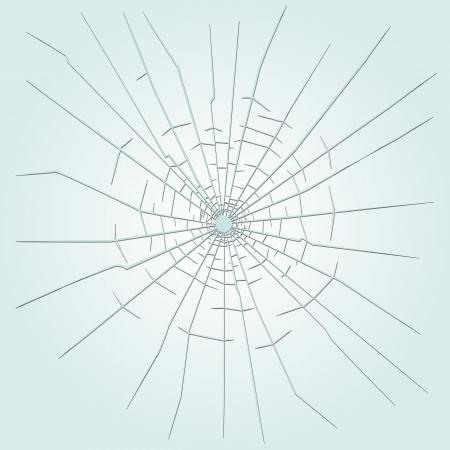 Einschussloch im Glas