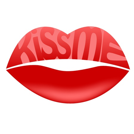lip gloss: Kiss me Illustration