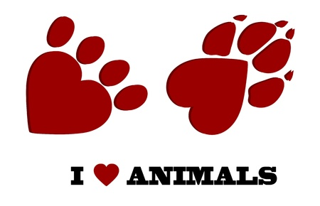 veterinary symbol: Animal love