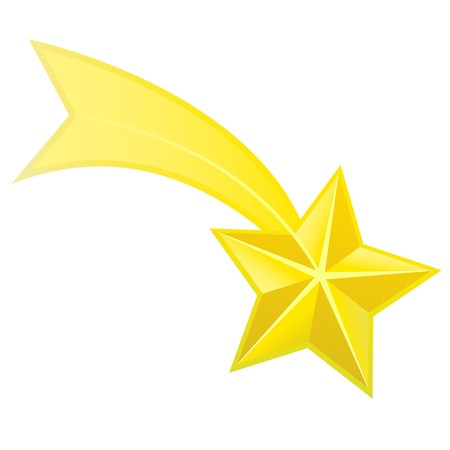 Shooting star vector Vector