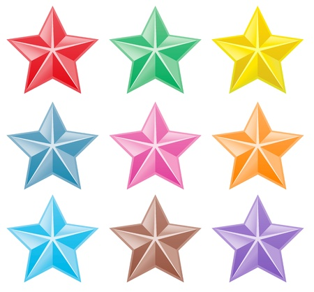 Collection of colorful stars Stock Vector - 21330694