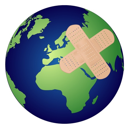 heal care: Heal the world concept