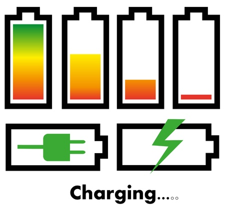 Battery charge icons Stock Vector - 21330706