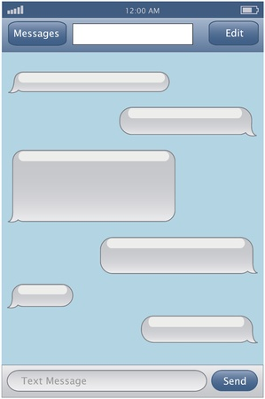 Resizable sms chat template royalty free cliparts vectors and chat template vector pronofoot35fo Images