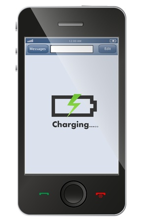 battery icon: phone charging