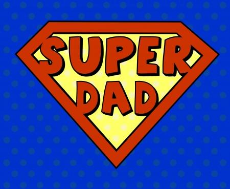 super dad: Super dad shield in pop art style