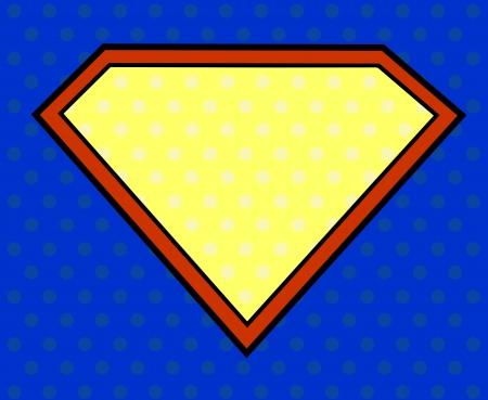 pop culture: Super hero shield in pop art style