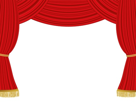 Theater curtains background Stock Vector - 21330718