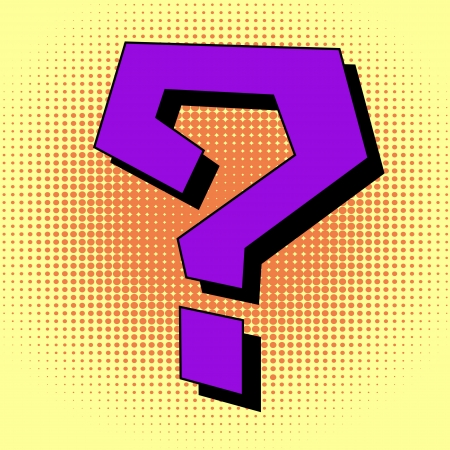 Question mark in pop art style