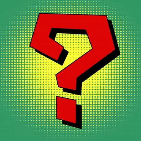 Question mark in pop art style Vector