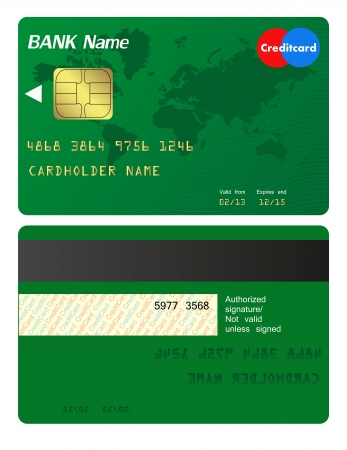 Front and back of credit card Stock Vector - 21599184