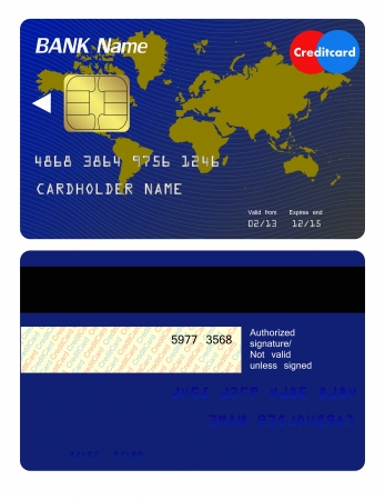 consumerism: Front and back of credit card