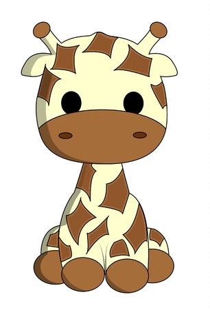 funny animal: Linda jirafa de dibujos animados Vectores