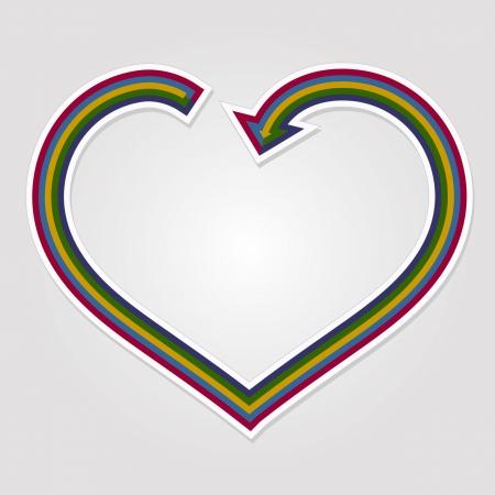 Heart arrow background Vector