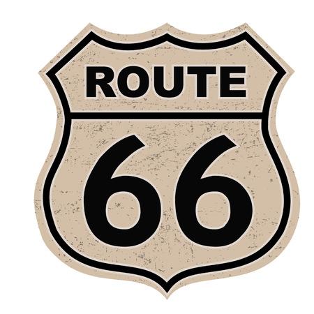 Route 66 Zeichen Standard-Bild - 23548418