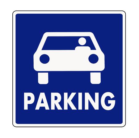 car park: Autocar parking sign Illustration