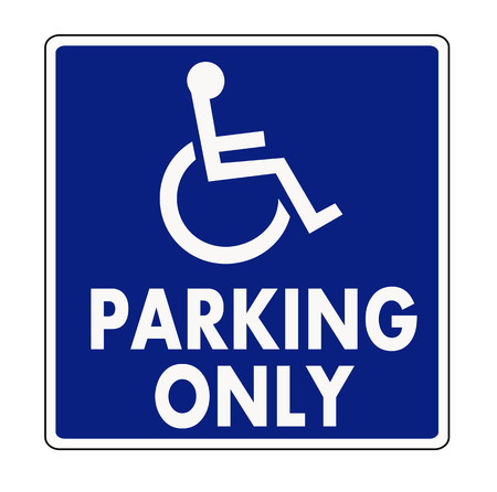 disabled parking sign: Handicapped parking sign