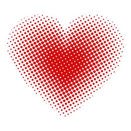 halftone pattern: Heart halftone