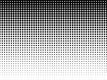 Halftone achtergrond Zwart-wit Stock Illustratie