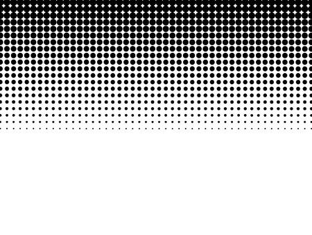 ハーフトーンの背景黒-白  イラスト・ベクター素材