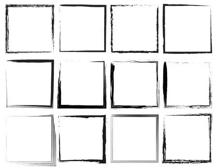 old frames: Grunge frames Illustration
