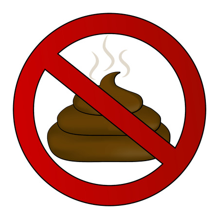 No poop sign Vector