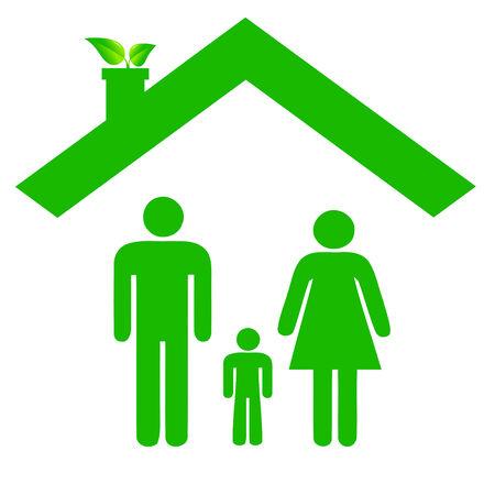 niños reciclando: Familia en Casa ecológica