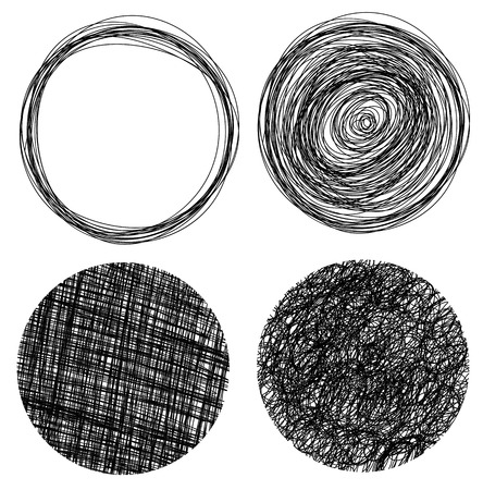 Hand drawn grunge circles Illustration