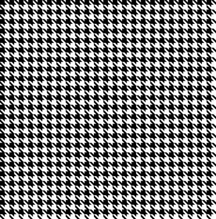 Zwart-witte houndstoothachtergrond-naadloze
