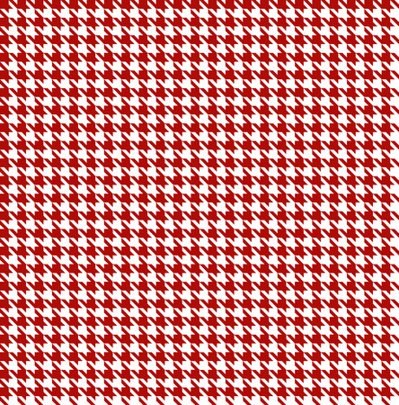 Red-white houndstooth background -seamless Vector