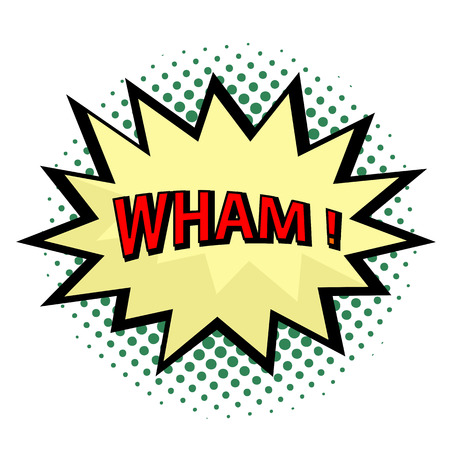 Wham! comic cloud in pop art style Vector