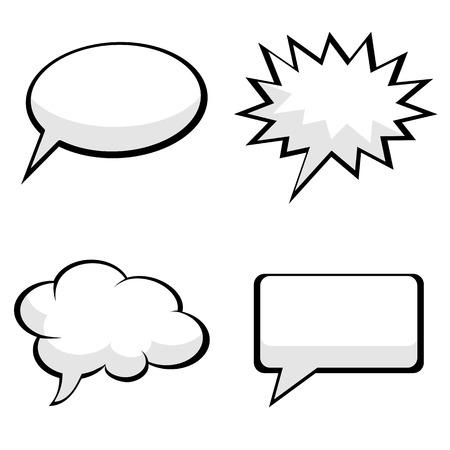 pop art des bulles de la parole dessinées Illustration