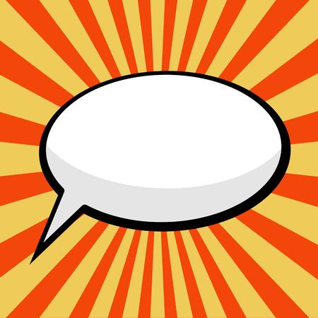 boom box: pop art comic speech bubble