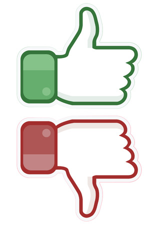 Thumb up and down Ilustração