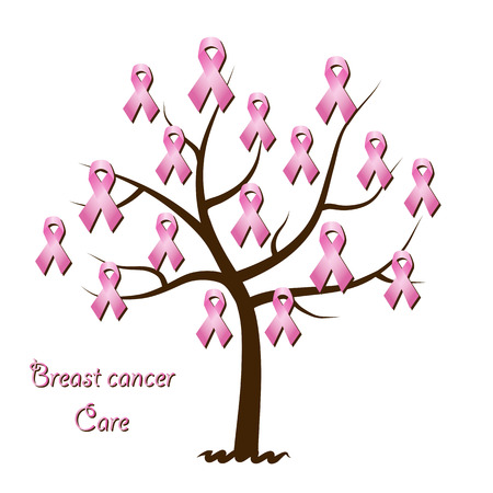 Breast cancer awareness tree Vector