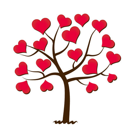 Tree of love 向量圖像