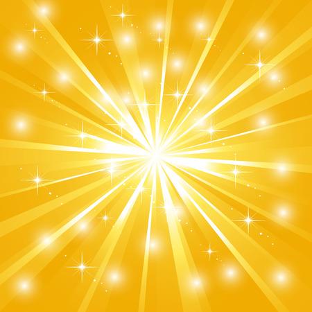 Sunburst brillant avec des étincelles Banque d'images - 25665573