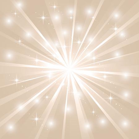 Bright sunburst with sparkles