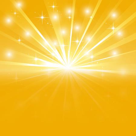 Rayon de soleil brillant avec des étincelles Illustration