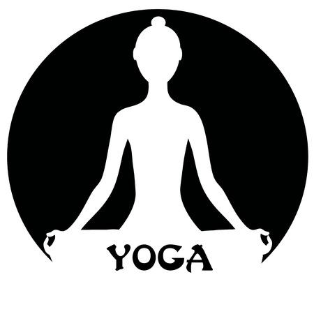 yoga outside: Meditating woman - yoga concept