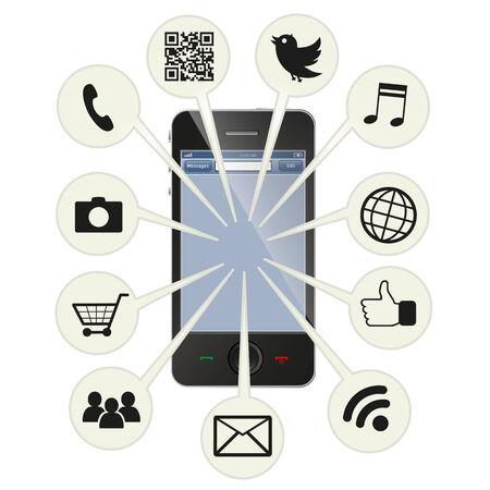 Téléphonique social intelligent Illustration