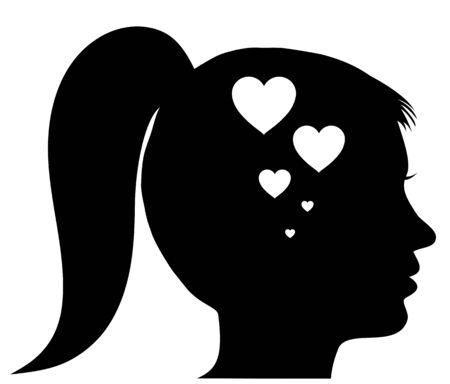 Woman in love 向量圖像