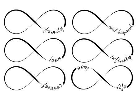 Oneindigheidssymbolen Stock Illustratie