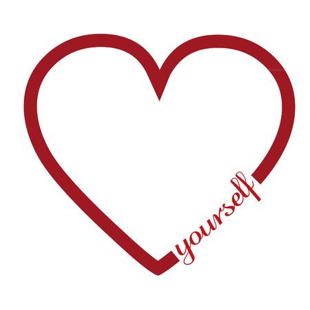 hintergrund liebe: Liebe dich selbst Illustration