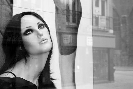 Mannequin in shop window
