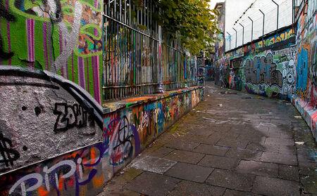Rue Graffiti à Gand, Belgique Éditoriale