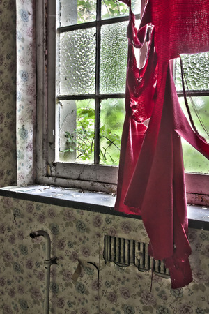 Window in abandoned house photo