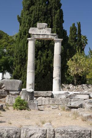 Vieilles ruines à Kos; Grèce