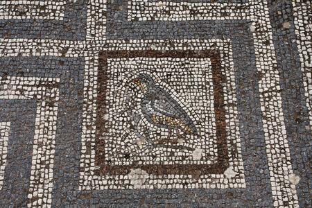 Old roman mosaic floor in Kos city; Greece 版權商用圖片